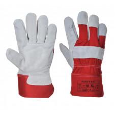 Prémium bőrkesztyű - piros A220