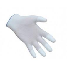 PU ujjvégmártott kesztyű fehér