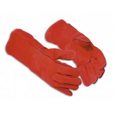 Hegesztő hosszú szárú kesztyű, piros