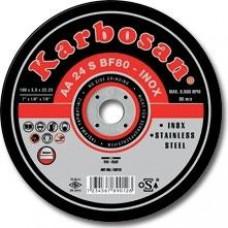 Vágókorong fémre INOX 125x0,8 Karbosan