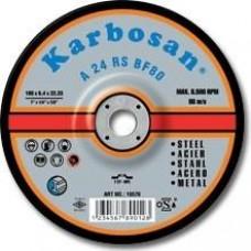Tisztítókorong fémre 125x 6,4 Karbosan