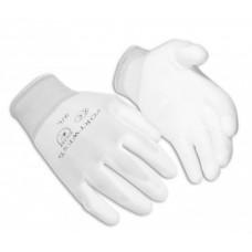 Nylon kesztyű PU tenyérmártott (fehér)